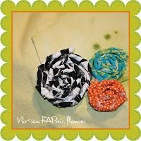 no-sew fabric flower tutorial