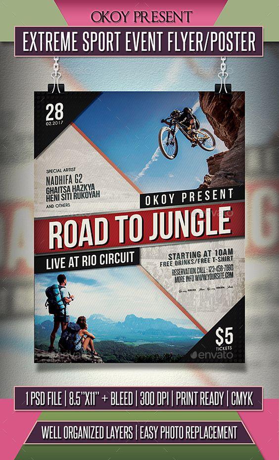 Sport Event Flyer \/ Poster Event flyers, Event flyer templates - event flyer
