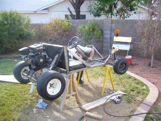 DIY Go Kart Cart Home made Welded image by diywp - Photobucket