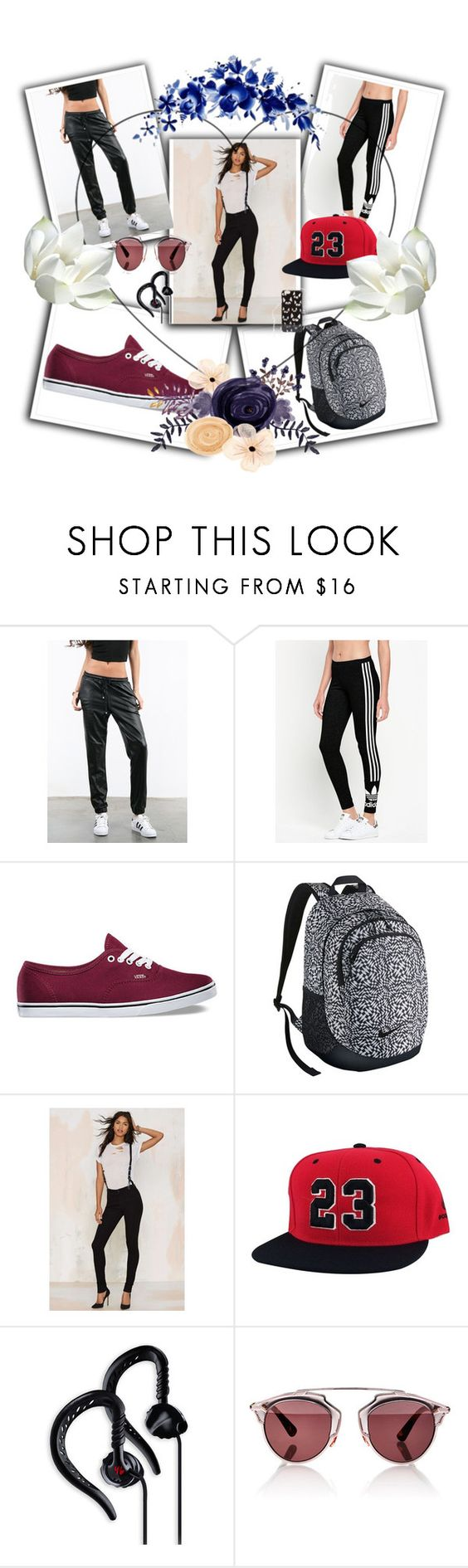 """""""Untitled #20"""" by shadow-168 ❤ liked on Polyvore featuring Sans Souci, adidas Originals, Vans, NIKE, CourtShop, Yurbuds, Christian Dior and ASOS"""