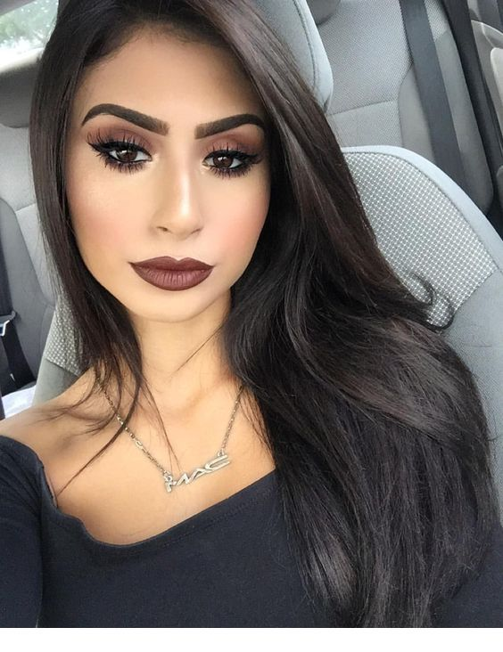 Nice Brown Lips And Eye Makeup With Images Best Eyeshadow Mac
