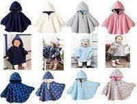 Envío gratuito de la alta calidad bebé capa doble cara desgaste capa recién nacidos del bebé invierno Thicking bebé lactante chaqueta Outwear bebé del cabo