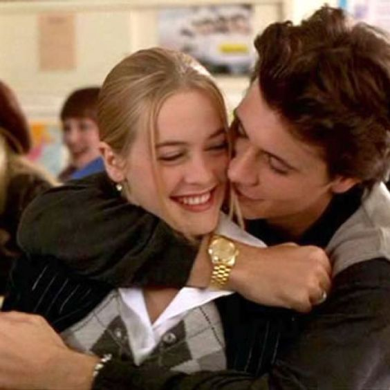 Young Alicia Silverstone and Jeremy Sisto as Cher and Elton in Clueless.