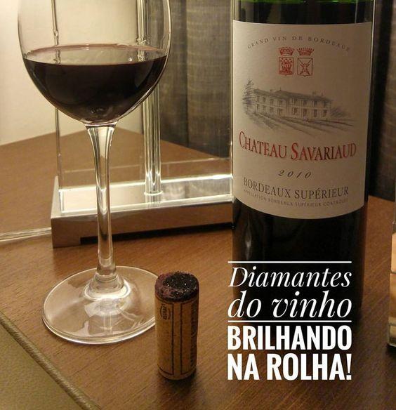 """Esse é um Bordeaux Supérieur de verdade. Começou na rolha com a presença marcante de """"diamantes do vinho"""". Cor densa, aromas maduros e paladar marcante. Com vocação claramente gastronômica e muita elegância. Vale a pena. Compre em http://wineinpack.com.br/chateau-savariaud-bordeaux-superieur-2010-e-chateau-robin-saint-denis-aoc-2010.   #vinho #vivaovinho #winelovers #dicasdevinhos #wine #winetasting #adega #degustação #eventobordeaux #packdevinhos #vendadevinhos #winetips #wineinpack…"""