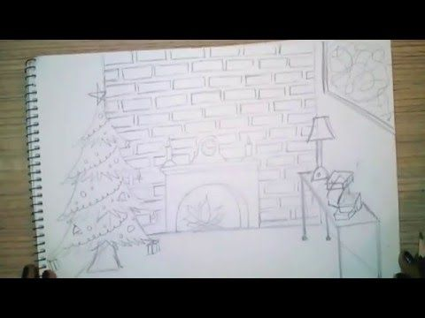 How to Draw a Simple Christmas Scene : Decorating for Christmas ...
