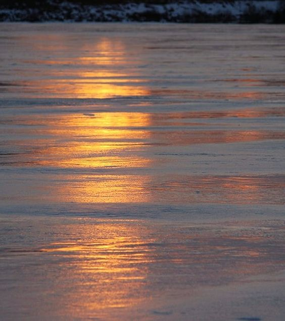 Lake Galena icy sunset by PHOTOPHANATIC1, via Flickr