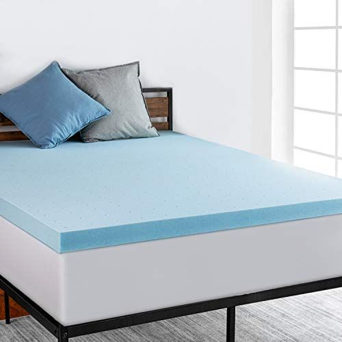 Ruuf 3 Inch Mattress Topper Queen Ventilated Gel Infused Memory Foam With Certipur Us Certified Medium Mattress Memory Foam Mattress Topper Mattress Topper
