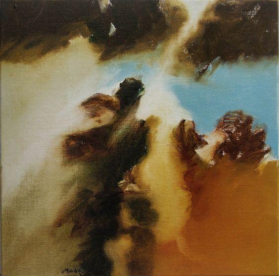 Studie 25, 2005 (P.Wienand)  Öl auf Leinwand/Holz, 25 x 25 cm