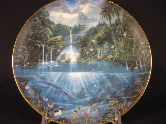 Sanctuary of the Dolphin Plate Numbered Limited Edition Hamilton Collection