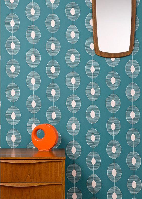 Papier peint Dewdrops – Miss Print pour Au Fil des Couleurs - Marie Claire Maison