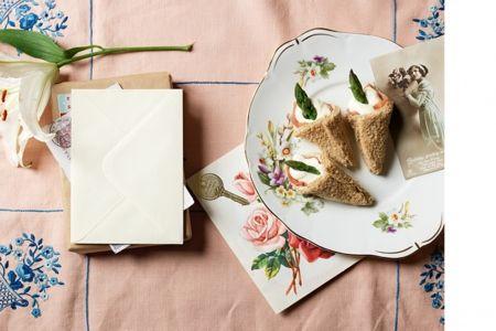 Cream cheese, ham and asparagus horns (sandwiches) Afternoon Tea ...
