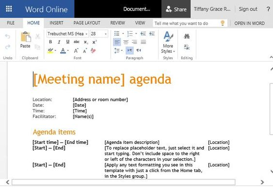 PTA meeting agenda temple in Email-message Agenda Templates - board meeting agenda template