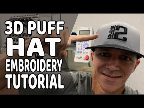 How To Embroider A 3d Puff Baseball Hat For Your Business With A Tajima Embroidery Machine Youtube Tajima Embroidery Machine Tajima Embroidery Hat Embroidery