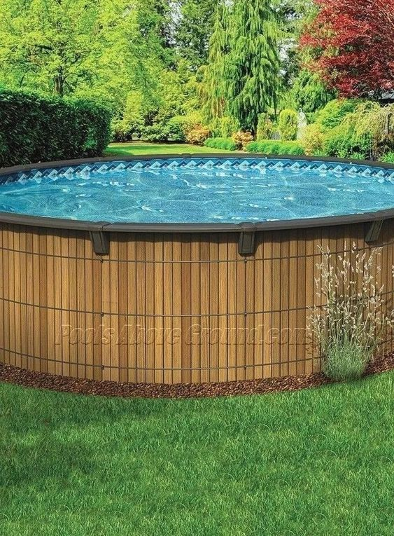 Above Ground Swimming Pool Ideas For Attractive Backyard Decortrendy Above Ground Pool Landscaping Wooden Pool Above Ground Swimming Pools