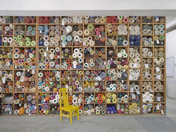 Room of fabric samples. Now this is a studio! (photo by Lee Mawdsley)
