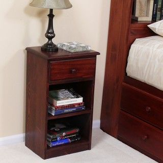 Pine Nightstand w/ Drawer & Shelf