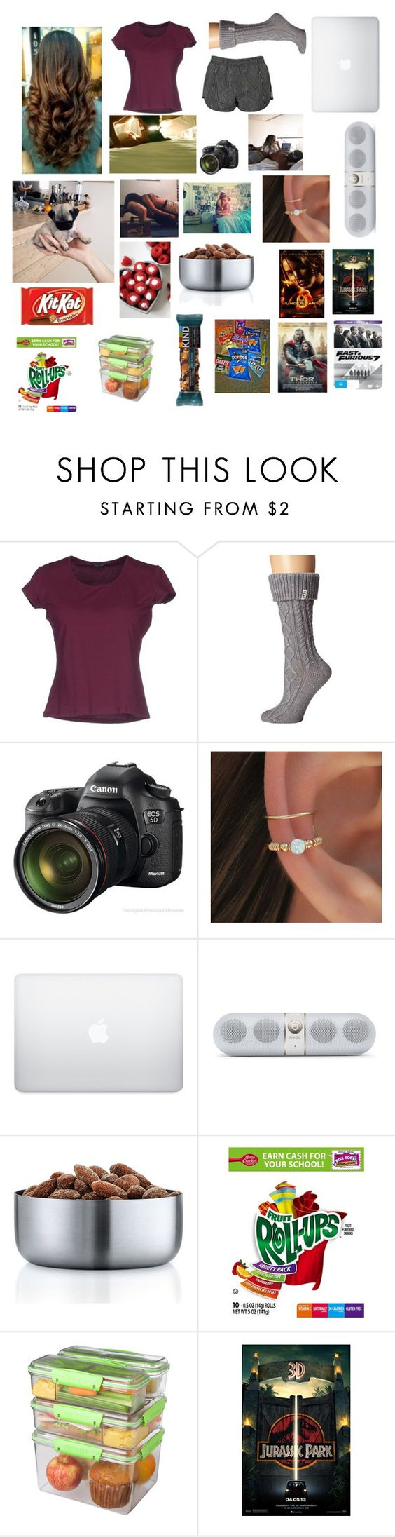 """Untitled #141"" by nashabriann ❤ liked on Polyvore featuring Cruciani, UGG Australia, Eos, blomus, Sistema, Junk Food Clothing and Topshop"