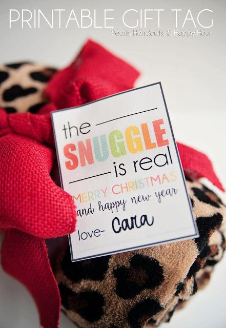 Pearls, Handcuffs, and Happy Hour: The Snuggle Is Real Christmas Gift & Printable Tags