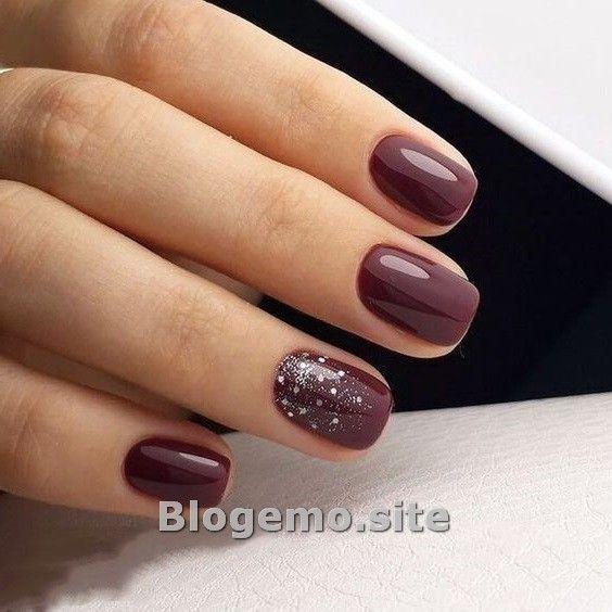 Winter Nails Art Design Ideas For Short Nails In 2020 Burgundy Nails Burgundy Nail Polish Trendy Nails