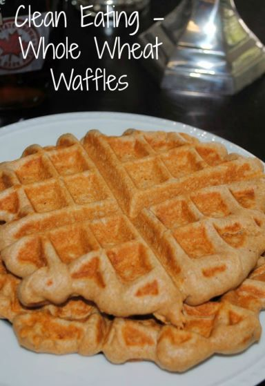 Clean Eating recipe - Whole Wheat Waffles- great for breakfast or add chicken for dinner!
