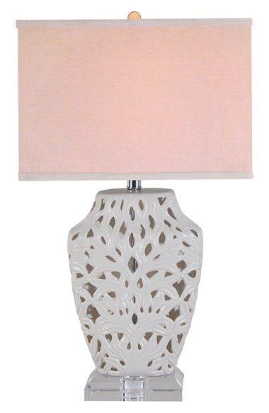 Evolution Lighting Lattice Ceramic Table Lamp