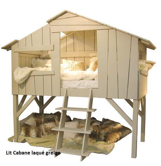 lit enfant construit avec des planches volontairement d structur es comme une vraie cabane. Black Bedroom Furniture Sets. Home Design Ideas