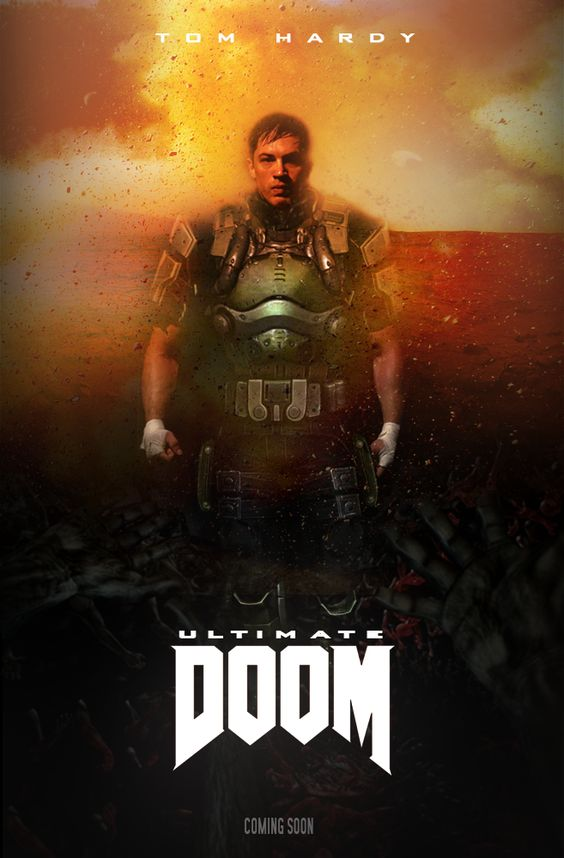 ultimate doom movie poster fan made by niteowl94