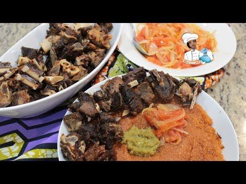 Gari Pinon Au Mouton Recette Africaine Southern Recipes Goat Meat What Recipe