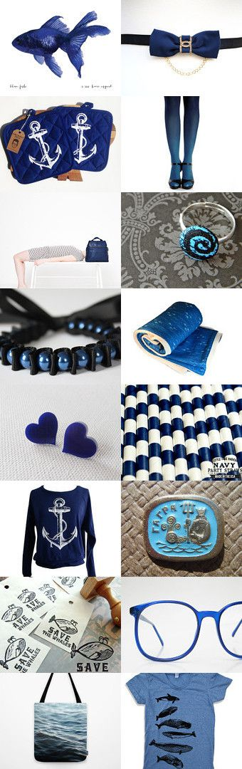 The Deep Blue Sea by Anne Hermine on Etsy--Pinned with TreasuryPin.com