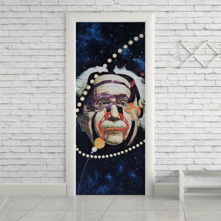 Adesivo de porta einstein - StickDecor   Decoração Criativa