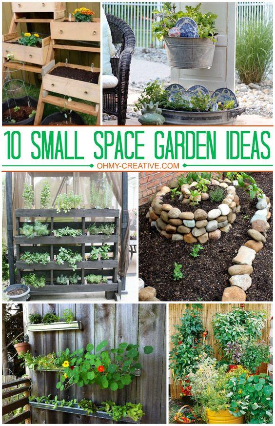 10 small space garden ideas and inspiration gardens for Creative vegetable garden designs