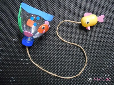 Les petits poissons, dans l'eau ... ou comment faire un bilboquet maison
