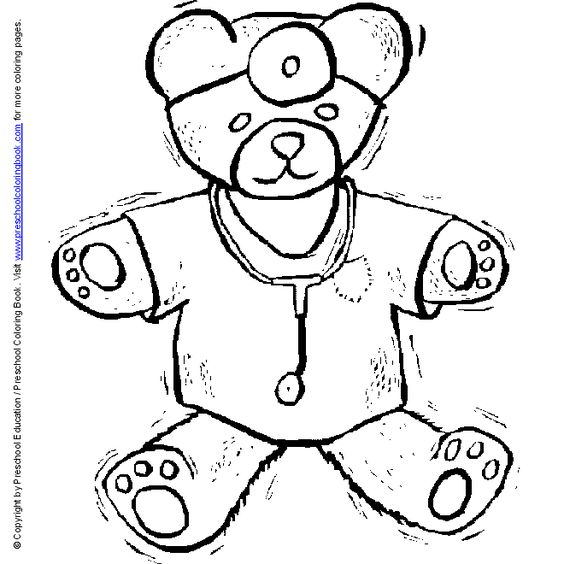 Doctor hospital coloring for Stethoscope coloring page