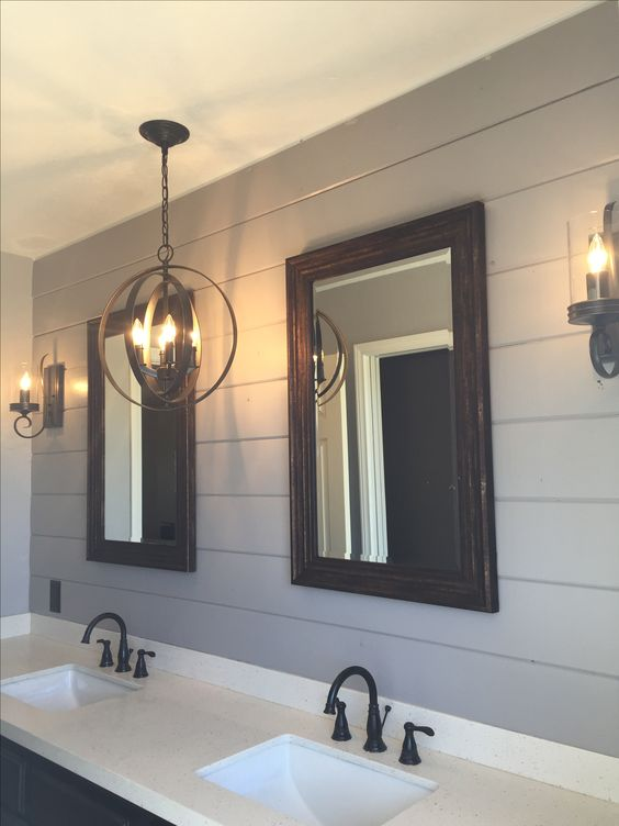 My shiplap bathroom master bathroom pinterest for Diy master bathroom ideas