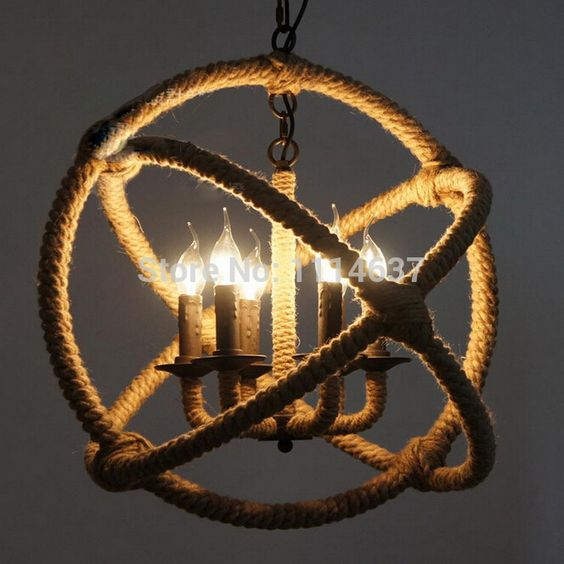 Light Craft Picture From Haide Trading About American Style Vintage Pendant Lights Edison Lamp Six Head Hemp Rope Cafe Dining Room Bar