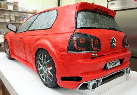 volkswagen golf gti e35 cupcake cakes pinterest. Black Bedroom Furniture Sets. Home Design Ideas