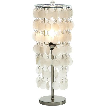 Bring coastal style to yours side table or night stand with this elegant lamp, highlighted by strands of round capiz shells.    Product...
