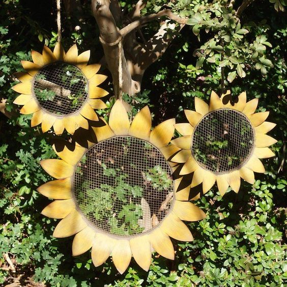 Garden Sunflower Wall Decor : Garden wall art sunflower and decor on