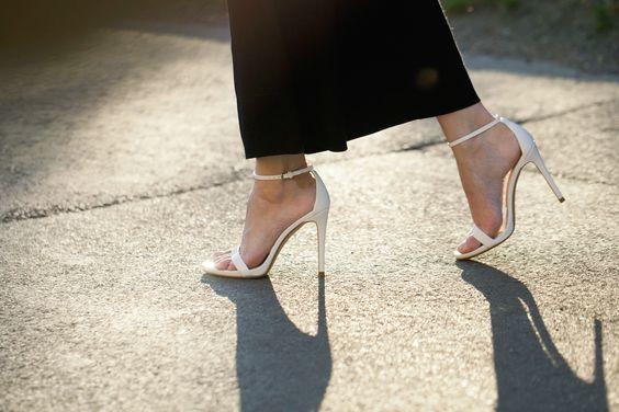 simple white heels