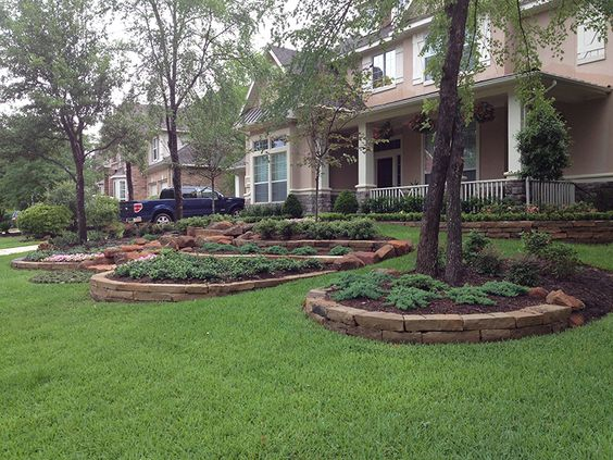 Landscaping Boulders Houston : Hacket stone retaining walls wall moss rock steps stairs