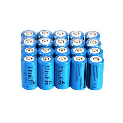 10PCS CR123A 1800mAh 3.7V 16340 Rechargeable Lithium Batteries for Arlo Camera