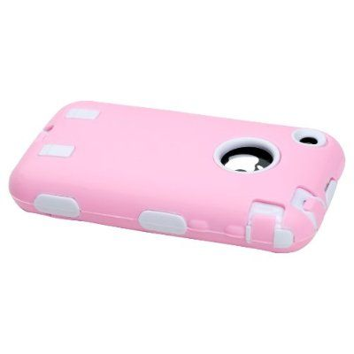 Body Armor for iPhone 3G / 3GS - Light Pink & White