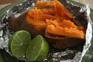A Year of Slow Cooking: CrockPot Baked Sweet Potatoes with Chili, Cumin and Lime