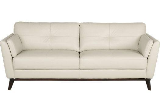 Sensational Sofia Vergara Gabriele Buff Leather Sofa In 2019 White Machost Co Dining Chair Design Ideas Machostcouk