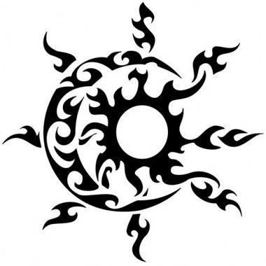 Tatuaje sol y luna maorí
