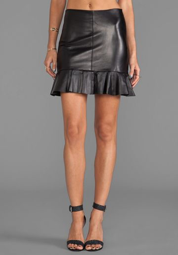Leather Frill Skirt