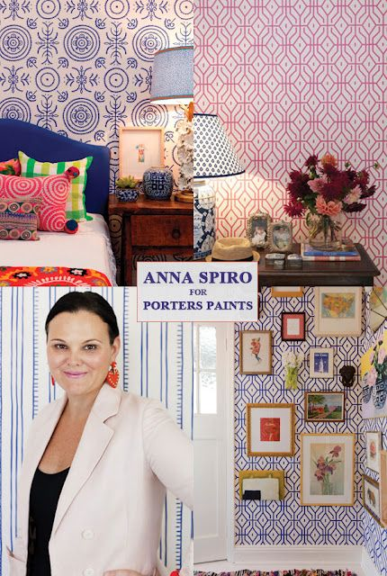 Isabella & Max Rooms: Spotted: Anna Spiro Wallpaper Designs!