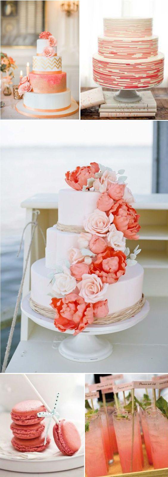 liebelein-will, Hochzeitsblog - Koralle, Farben, Hochzeit, Torten