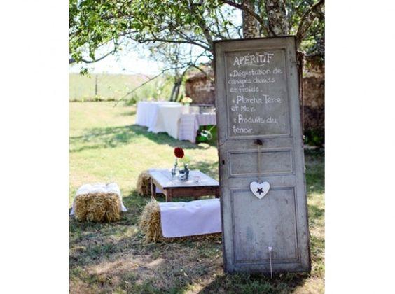 Mariage dites oui la d co champ tre mariage style and deco - Decoration jardin mariage ...