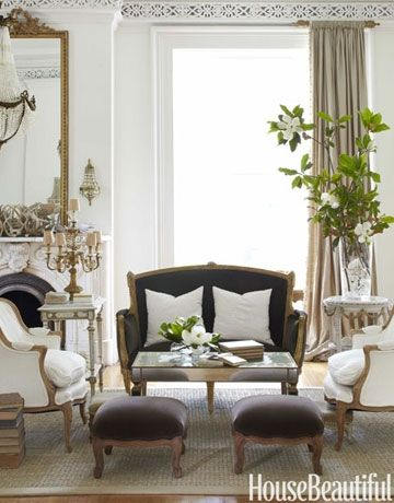 Anything French inspired inc sconces, candlelabra, use of black color